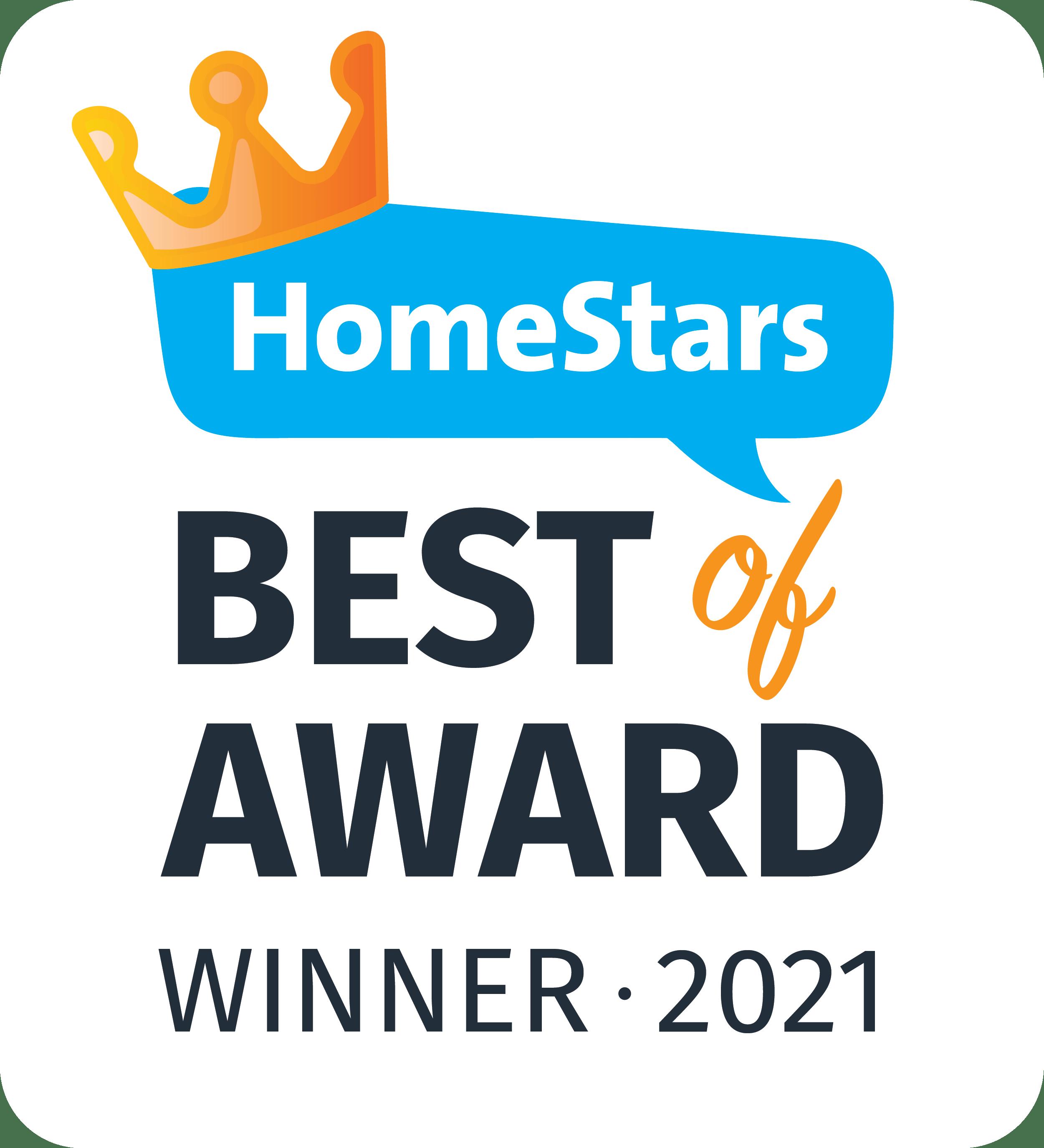HomeStars Best of Award Winner 2021